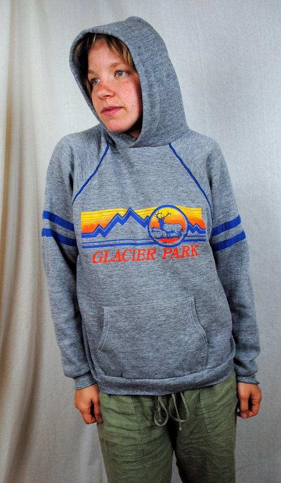 Vintage Glacier Park 1989 80s Hoodie Sweatshirt