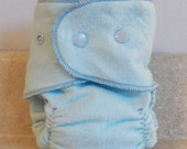 Fitted Preemie Newborn Cloth Diaper- 4 to 9 pounds- Basic Blue - Set of 5- Bulk Discount- Made to Order