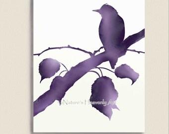 Watercolor Art Print, Bird Wall Decor, Customized 8 x 10 Print, Wildlife, Nature Art (77)