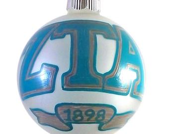 Handpainted Zeta Tau Alpha Holiday Ornament