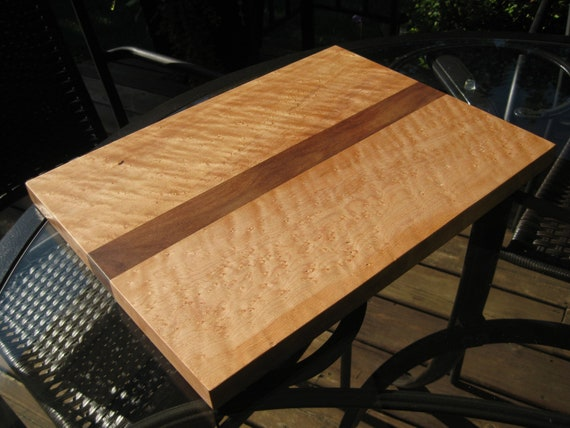 Reserved Lisitng for Larry - Cutting Board - Birdseye Maple and Walnut - For Pickup-Delivery