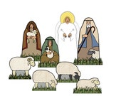 The Shepherds and Sheep Creche - Digital PDF Download - Paper Cut-Out DIY Craft Kit - No Shipping Required