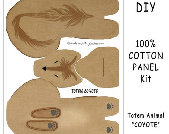 DIY Kit - TOTEM COYOTE - Toy Animals for Nature Table, Play or Collecting - Free Shipping Continental United States