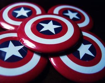 """Captain America """"shield"""" 2.25 inch button"""