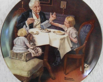 Knowles Norman Rockwell The Gourmet from the Rockwell Heritage Collection Plate 1984