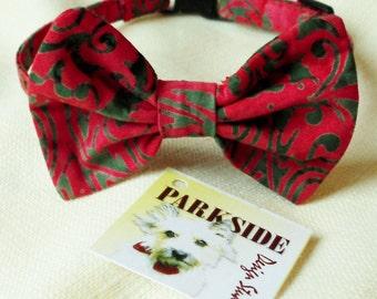 Christmas Bow Tie Collar for Medium Size Dog