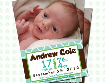 Baby Announcement - Happy Baby