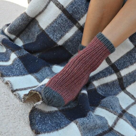 Knitted socks 100% wool Christmas gift