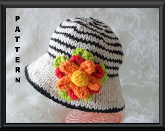 Knitted Hat Pattern Baby Hat Pattern Newborn Hat Pattern Infant Hat Pattern Bonnet Hat Pattern: TUTTI FRUITTI