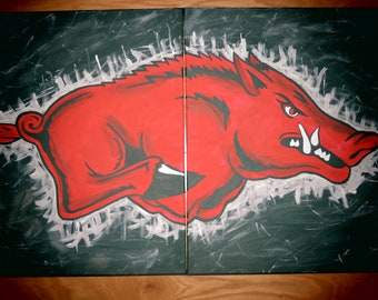 Officially Licensed Arkansas Razorback Paintings