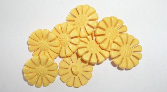 Sweet Vintage Style Sunflower Buttons Charms Beads