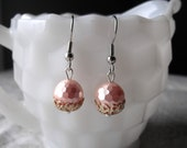 Love Nest - Vintage Pink Earrings