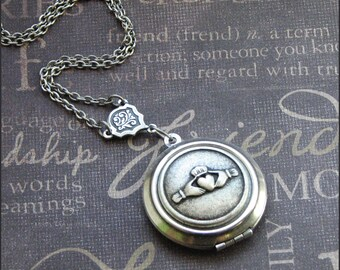 Silver Claddagh Locket Necklace- Enchanted Irish Love - Jewelry by TheEnchantedLocket - BEAUTIFUL Wedding Anniversary Bride Gift