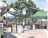davis farmer's market (original drawing)