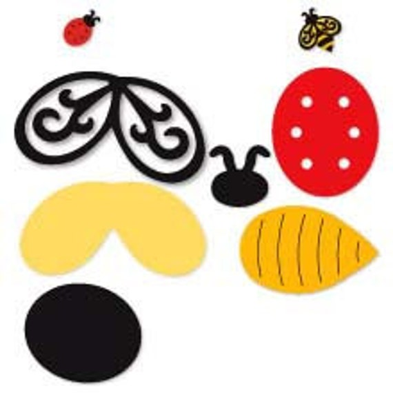 SIZZIX ORIGINALS---Bee and ladybug Die-----654659---New in Package
