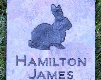 Personalized Rabbit Memorial Gravestone Marker Rabbit Memorial Stone