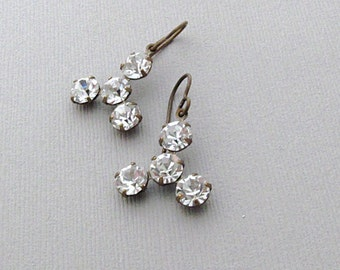 Sparkle Rhinestone Earrings, Dangle Earrings, Sparkle Jewelry, Holiday Party, Gift for Her, Wedding - Sparkle
