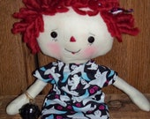 Raggedy Ann Ghost black pumpkin OFG