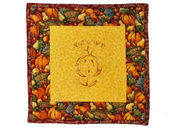 Pomegranate Welcome Mat or Wall Hanging for Fall, but Especially Jewish Fall Hoilidays