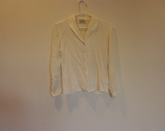 vintage cream blouse xs petite