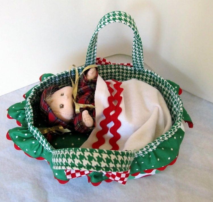 Handmade Moses Basket Bedding : Baby doll and moses basket bed set handmade by