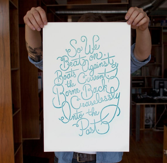 The Great Gatsby Letterpress Poster