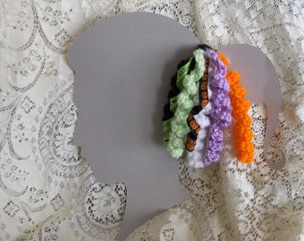 Halloween Spiral Curlicue Handmade Hair Clips
