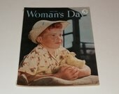Vintage Womans Day April 1950- Cool Old Collectible Magazine - Art Craft  Fashion  Old Ads Scrapbooking