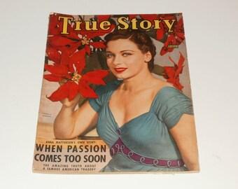 Vintage True Story Magazine, December 1940, Patricia Morison, Romance Stories, Cover Art, Vintage Ads, Scrapbooking, Retro