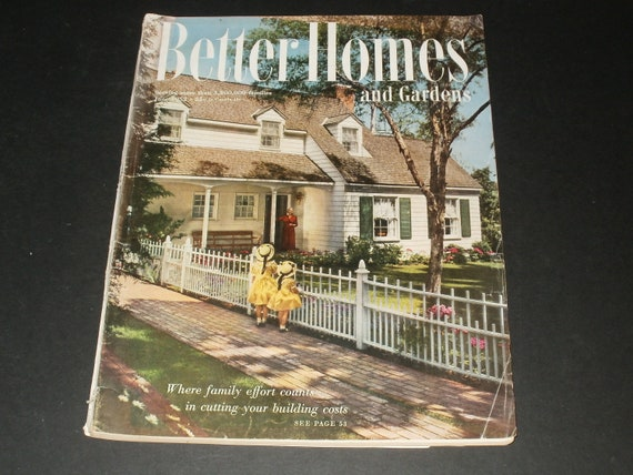 Vintage Better Homes And Gardens Magazine June 1952 Vintage