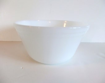 ON SALE Vintage White Bowl Federal Glass