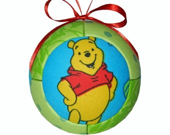 Bear / Christmas Ornament /  Winnie the Pooh / Tigger / Piglet / Disney Ornament Handmade gift / by CraftCrazy4U on Etsy