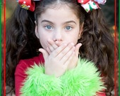 SHAGGIES Grinch Green Removable Fur Cuffs Children's Boutique