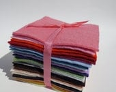 The colors of OhMa Felt,  a rainbow collection of 41 wool felt squares...