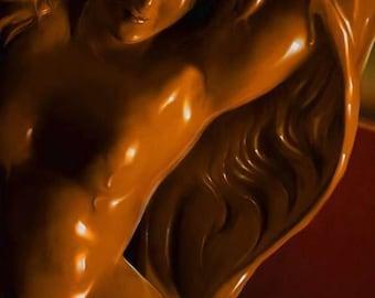 Xocolatl Amour Perfume Oil - 5ml - Spiced Cocoa, Ethiopian Coffee, Marzipan - Aged
