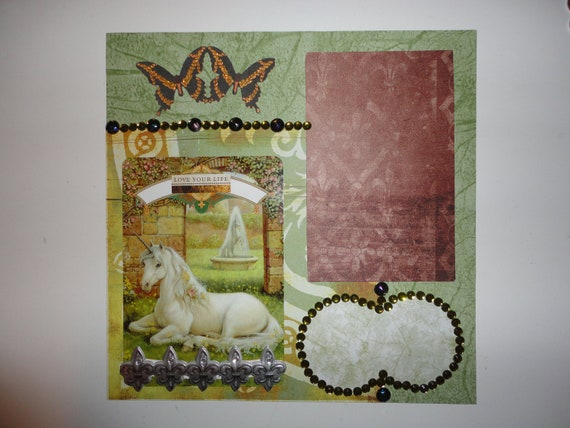 Magical Unicorn Oracle - Love Your Life 8 x 8 scrapbook page