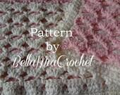 Crochet Baby Blanket Pattern // Reversible Lace