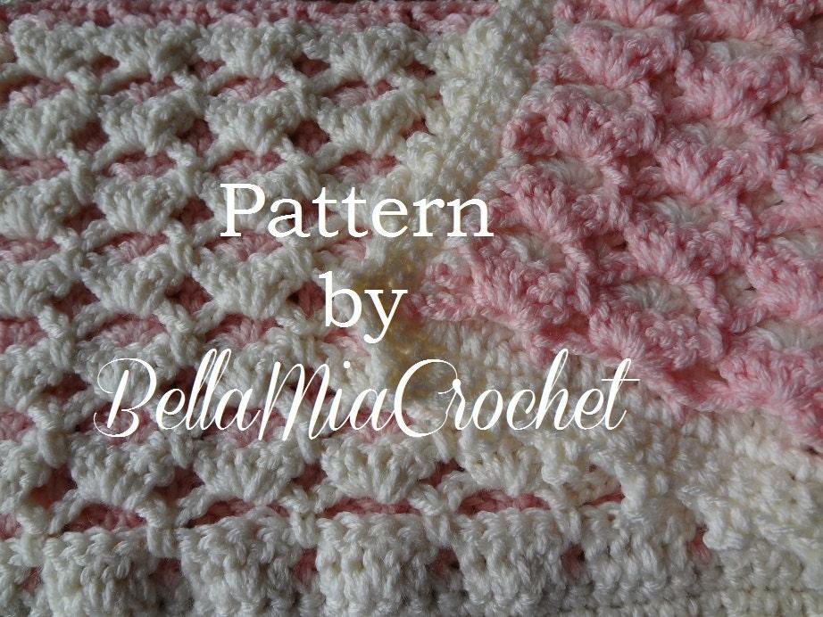 Crochet Baby Blanket Lace Pattern : Crochet Baby Blanket Pattern // Reversible Lace by ...