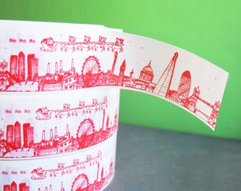 Christmas London Skyline Decorative Tape