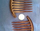 Brown plastic HAIR FORK