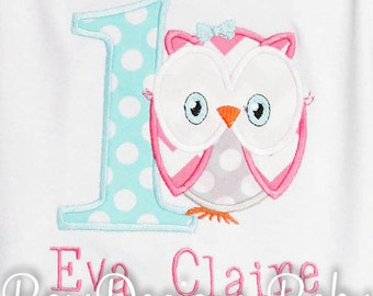 Owl birthday Shirt or Bodysuit, Look Whoo is, Custom, Any Colors, Any Age, Girls Owl Birthday, 1st, 2nd, 3rd, Personalized