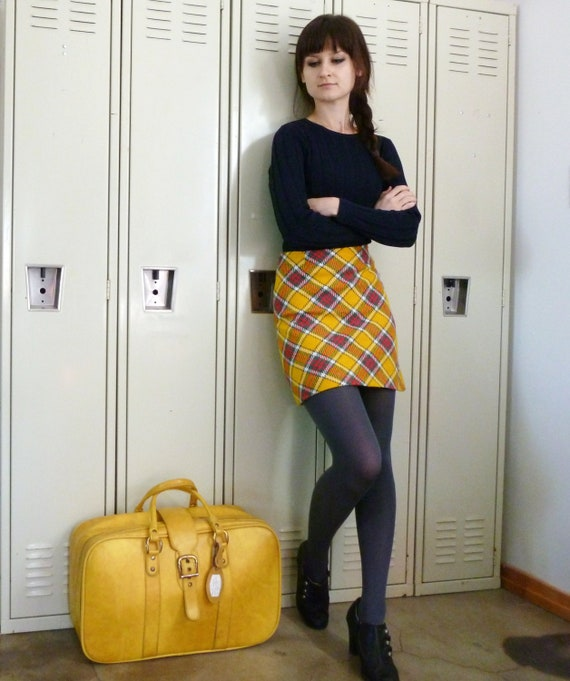 Yellow Plaid Mini Skirt 102
