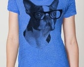 Boston Terrier t shirt -- womens American printed apparel  S M L XL XXL  ( 12 colors ) skip n whistle