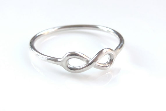 One Petite Sterling Silver Infinity Ring - Timeless Elegance