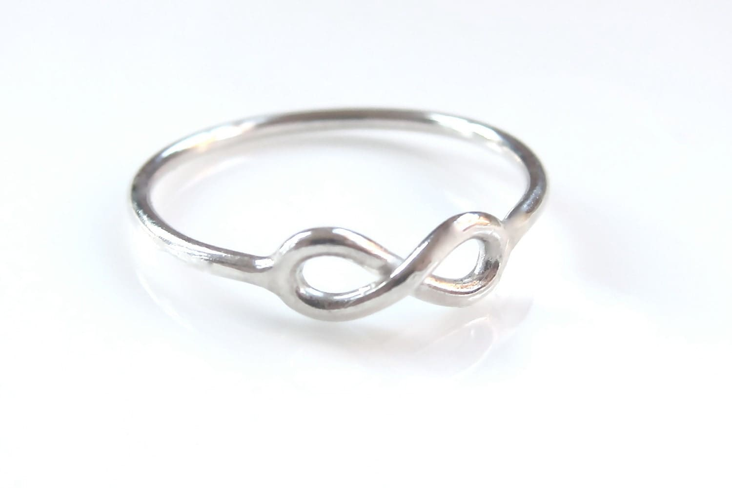 one sterling silver infinity ring timeless elegance