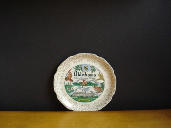 Oklahoma Love - Vintage State Souvenir Plate
