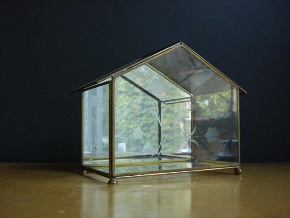 Don T Throw Stones Small Glass House By Happygovintage