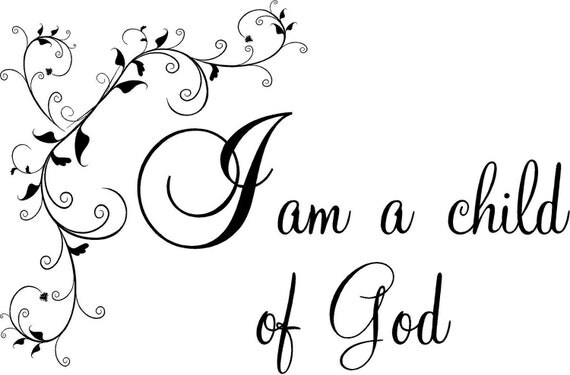 Items similar to quote i am a child of god floral special for I am a child of god coloring page