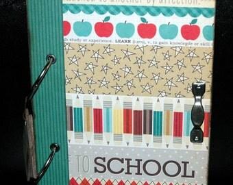 SALE... Back to School Journal - Scrapbook