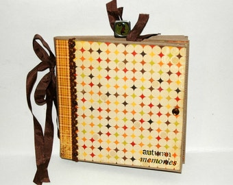 Thanksgiving - Autumn -  Paper Bag Album - Scrapbook -  Journal